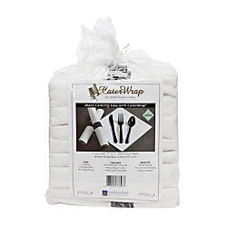 Linen Like Pre wrapped Cutlery Kit