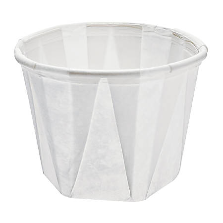 Solo® Treated Paper Souffle Portion Cups, 1 Oz, White, 20 Bags of 250 Cups, Case Of 5,000 Cups