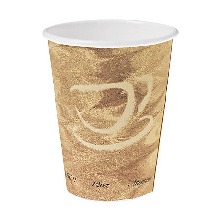 Solo® Polycoated Hot Paper Cups, 12 Oz, Brown, 50 Cups Per Sleeve, Case Of 20 Sleeves