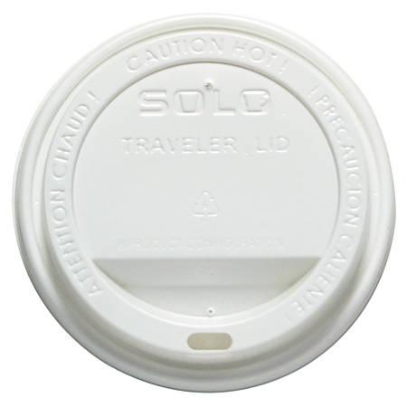 SOLO White Traveler Lid, 12-16 oz., 300/Case