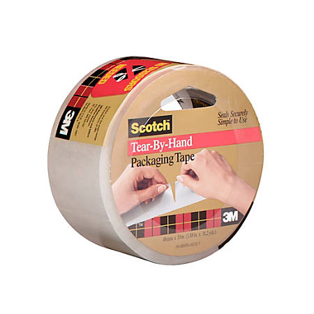 "3M™ 3842 Carton Sealing Tape, 3"" Core, 2"" x 38 Yd., Clear, Case Of 6"
