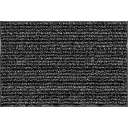 Realspace® Tough Rib Floor Mat, 4' x 6', Charcoal