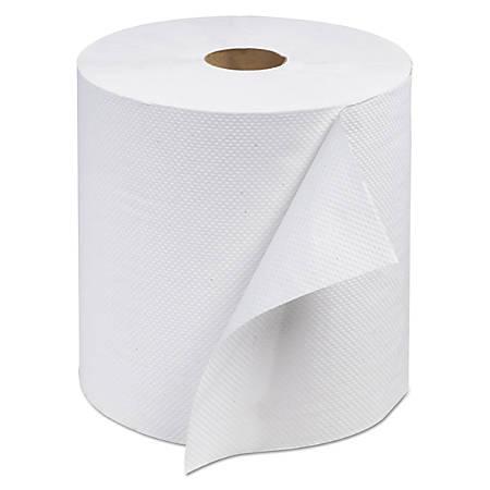 "Tork® Advanced Hardwound Paper Towel Rolls, 7 13/16"" x 800', White, Pack Of 6 Rolls"