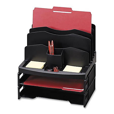 Eldon® Smart Sorter™ System With Trays, Black