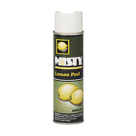 Amrep/Misty Handheld Air Sanitizer and Deodorizer, Lemon Peel Scent, 10 ounces, 12 Cans per Case, Sold by the Case
