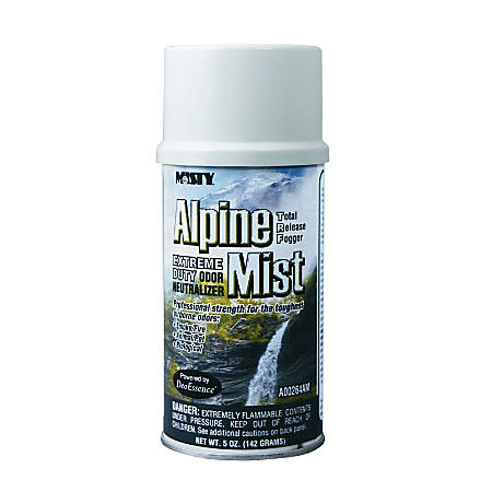 Amrep/Misty Odor Neutralizer Fogger and Deodorizer, Extreme Duty, Alpine Mist, 5 ounces, 12 Cans to a Case, Sold by the Case