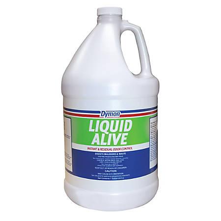 Dymon Liquid Alive Odor Digester, Neutral, 1 Gallon, Case Of 4