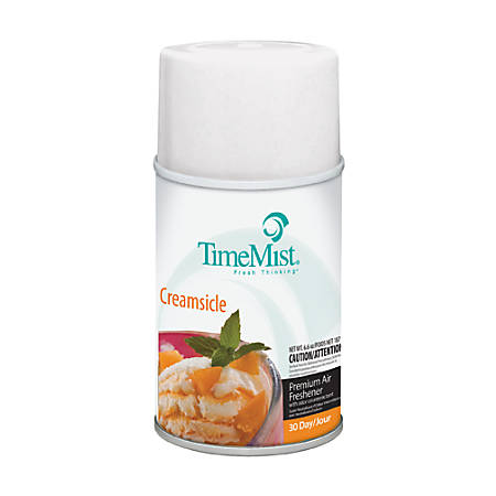 TimeMist Metered Fragrance Dispenser Refills, Caribbean Waters, 6.6 oz. Includes twelve 6.6 oz aerosol cans per case.