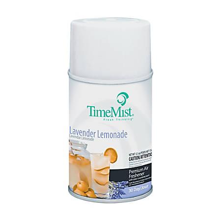 TimeMist Lavender Lemon Metered Air Dispenser Refill - Oil - 5.3 fl oz (0.2 quart) - Lavender Lemonade - 30 Day - 12 / Carton