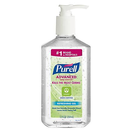Purell® Gel Instant Hand Sanitizer, 12 Oz, Case Of 12