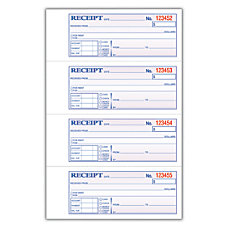 Adams Carbonless MoneyRent Receipt Book 3