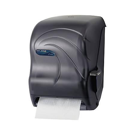 San Jamar Lever Roll Towel dispenser, Black