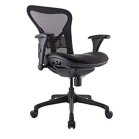 WorkPro® Warrior 212 Mesh Managerial Mid-Back Chair, Black