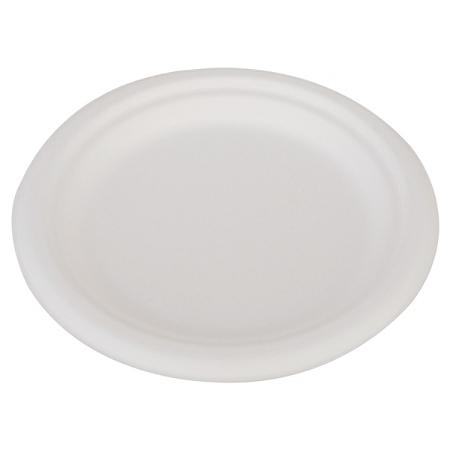 "SCT® ChampWare™ Heavyweight Bagasse Dinner Plates, 6"", White, Carton Of 1,000 Plates"