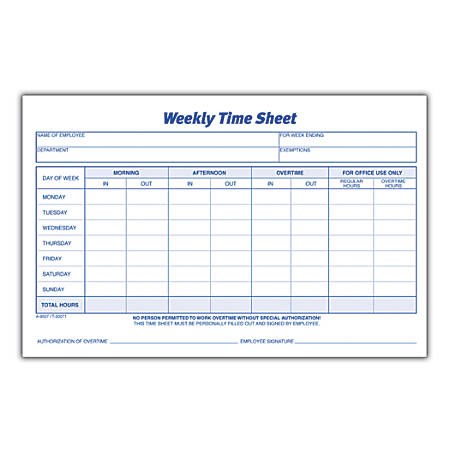 adams weekly time sheets 8 12