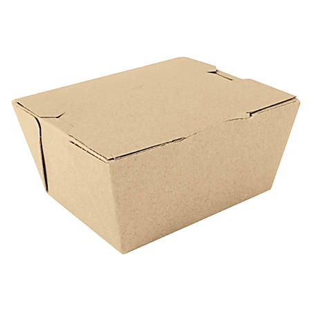 """SCT® ChampPak™ Carryout Boxes, 3 1/2""""H x 4 3/8""""W x 2 1/2""""D, Brown, Pack Of 450 Boxes"""
