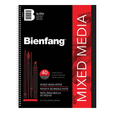 """Bienfang® Mixed Media Pad, 9"""" x 12"""", White"""