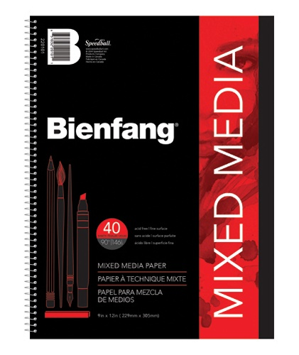 bienfang mixed media pad 9 x 12 white by office depot officemax