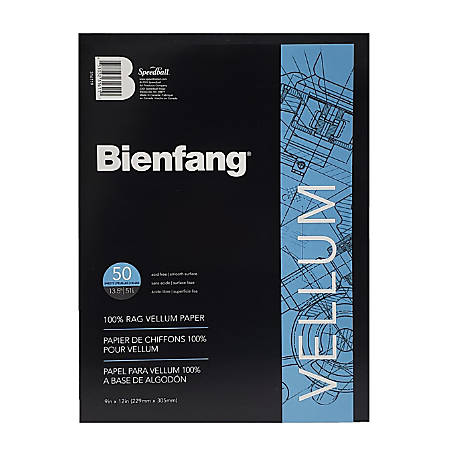 """Bienfang® Vellum Drafting Pad, 9"""" x 11 3/4"""", 50 Pages, White"""