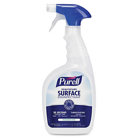 PURELL® Healthcare Surface Disinfectant - Ready-To-Use Spray - 0.25 gal (32 fl oz) - 12 / Carton - Clear