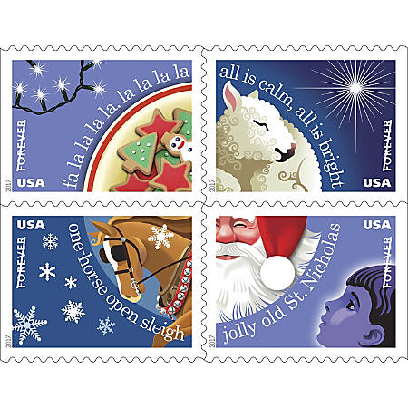 USPS® Holiday FOREVER® Postage Stamps, Book Of 20 Stamps