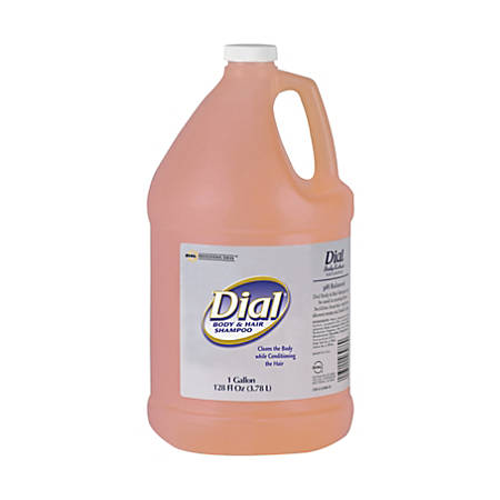 Dial Peach Scent Body And Hair Shampoo, 1 Gallon, Case Of 4 Bottles