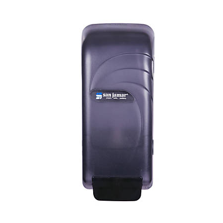 "Chef Revival Oceans Soap And Hand Sanitizer Dispenser, 10 1/2"" x 4 1/2"" x 4 3/8"", Black"