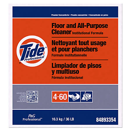 Tide® Professional™ Floor And All-Purpose Cleaner, 36-Lb Box