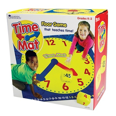 Learning Resources Time Activity Mat 54 X 54 Pre K Grade 8 Office