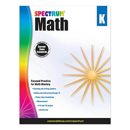 Carson-Dellosa Spectrum Math Workbook, Kindergarten