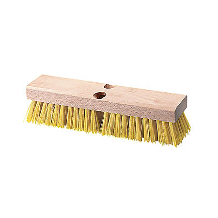 BOARDWALK Deck Brush, Cream Colored Polypropylene Bristles, 10 inches wide, Sold as One Each