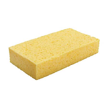 "Premiere Pads Large Cellulose Sponges, 7 13/16""H x 4 1/4""W x 1 1/2""D, Yellow, Case Of 24"