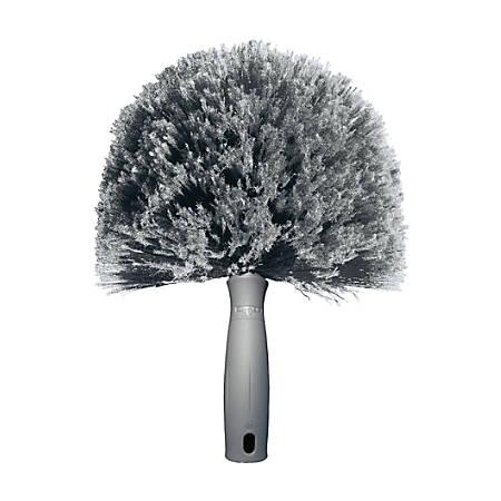 "Unger Polypropylene Bristle Cobweb Duster, 3 1/2"" Handle, Gray"