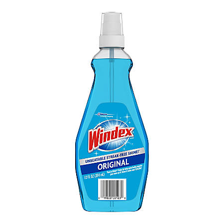Windex Ammonia-D Glass Cleaner, Ready-to-Use, 12 ounces, Pump Sprayer, Neutral Scent, 12 Bottles per Case, Sold as a Case.