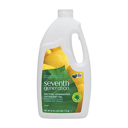 Seventh Generation™ Automatic Dishwasher Soap, Lemon Scent, 45 Oz, Gel, Case Of 6
