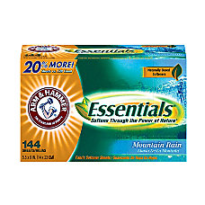 Arm Hammer Essentials Dryer Sheets Mountain