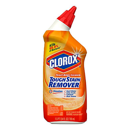 Clorox Toilet Bowl Cleaner With Bleach, Neutral Scent, 24 Oz Bottle, Gel, Case Of 12