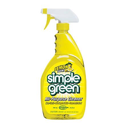 Simple Green All-Purpose Cleaner, Lemon Scent, 24 Oz, Case Of 12 Bottles