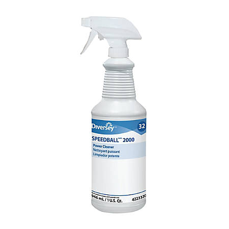 Diversey Speedball 2000 Power Cleaner, Citrus Scent, 32 Oz, Case Of 12 Bottles