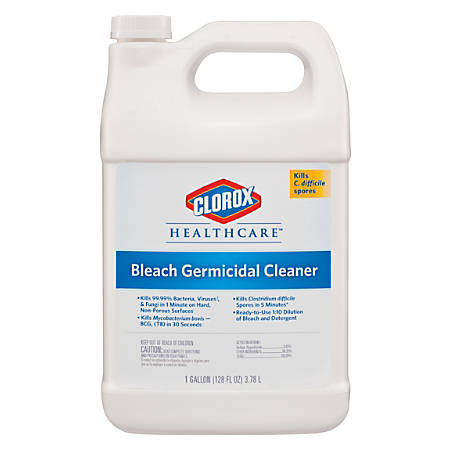 Caltech Dispatch Hospital Ready-to-Use Cleaner/Disinfectant with Bleach, 1 Gallon Refill Bottle, Four 1-Gallon Bottles per Case, Sold by the Case