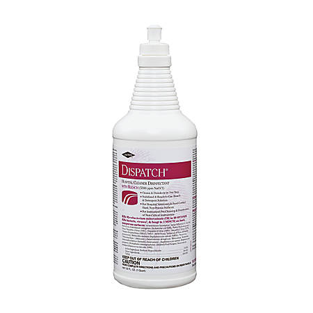 Caltech Dispatch Hospital Ready-to-Use Cleaner/Disinfectant with Bleach, 1 quart, Pull-Top Bottle, 6 Bottles per Case, Sold by the Case