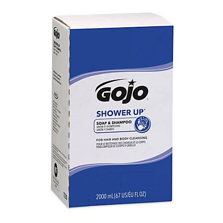 GOJO® SHOWER UP® Soap & Shampoo, 2,000 mL, Case Of 4