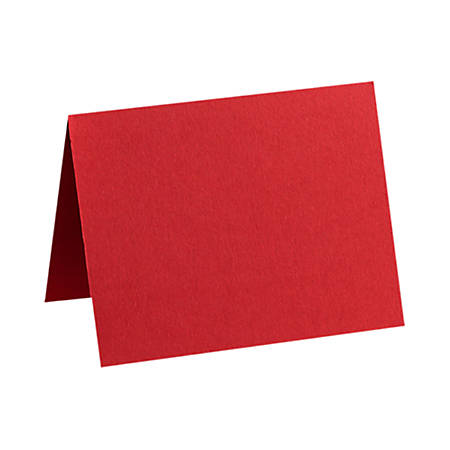 """LUX Folded Cards, A7, 5 1/8"""" x 7"""", Ruby Red, Pack Of 50"""