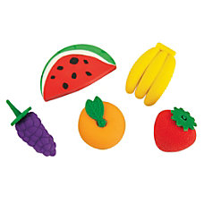 Office Depot Brand Pencil Erasers Fruit