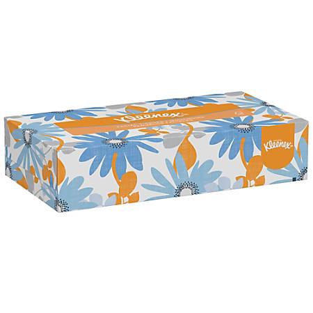 Kleenex® FSC Certified 2-Ply Facial Tissues, White, 100 Tissues Per Box, 10 Boxes Per Bundle, Case Of 6 Bundles