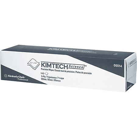 KIMTECH SCIENCE Precision Wipes Tissue Wiper, 14.7 x 16.6, WH, 140/Box, 15/Ctn