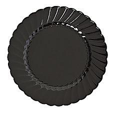 Classicware Plastic Plates 6 inches Black