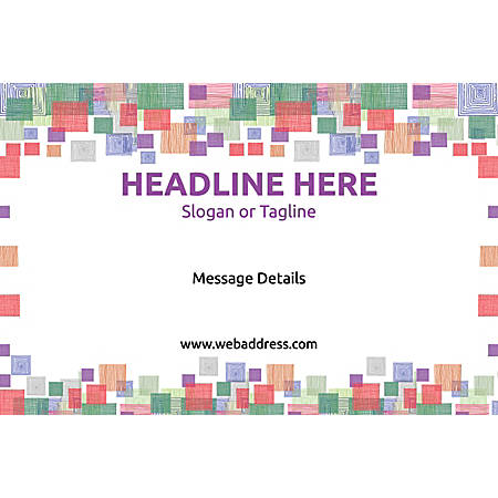Adhesive Sign, Square Mosaic , Horizontal