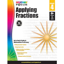Spectrum Applying Fractions Workbook Grade 4