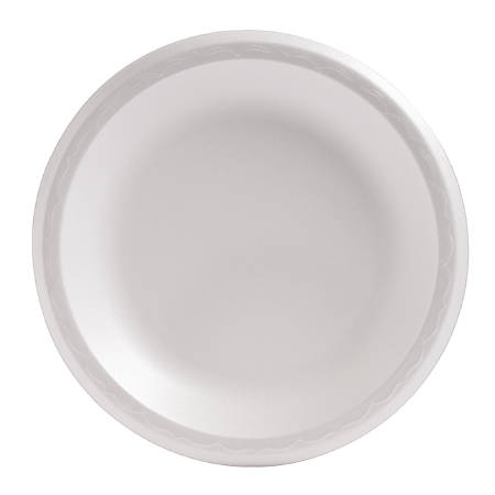 "Genpak Foam Plates - 8.88"" Diameter Plate - Foam Plate - Disposable - 500 Piece(s) / Carton"
